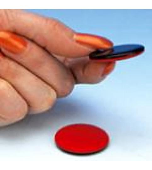 Moneda plastic arbitraj rosu/negru